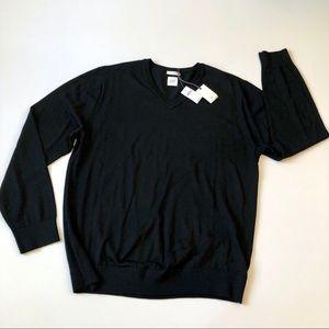 Gap Extra Fine Merino Wool black sweater NWT L